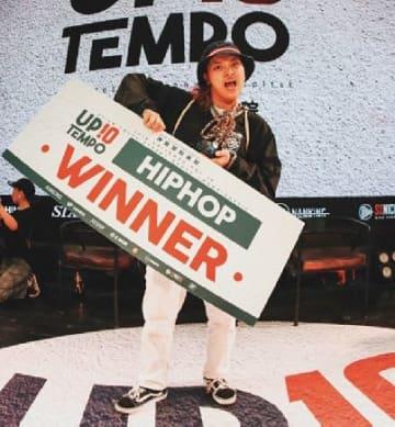 ヒップホップダンスの国際大会で初優勝したRinkaさん(本人提供)