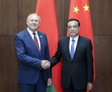 李克強総理、ベラルーシのルマス首相と会見