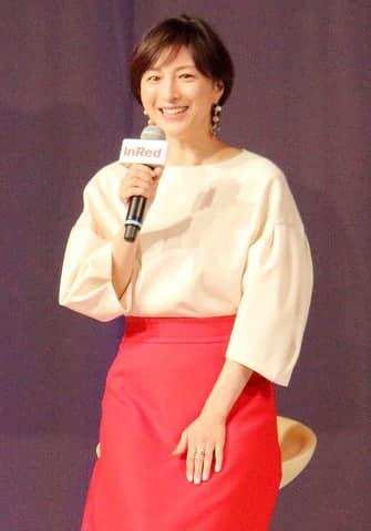 ファッション誌「InRed」の創刊15周年記念イベントのトークショーに登場した広末涼子さん