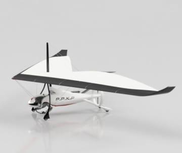 自動運転航空機の完成イメージ(画像:もりもと技術研究所の発表資料より)