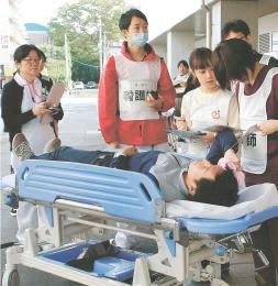 治療優先度を判断するトリアージの訓練