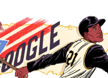 Roberto Clemente honored with Google doodle