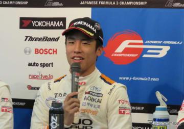 2018年全日本F3チャンピオンの坪井翔。