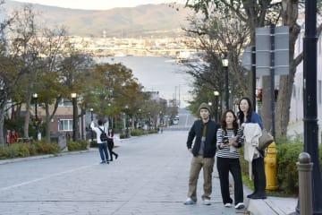 北海道函館市の街並み=15日午後
