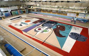 ル・コルビュジエがデザインを手掛けた緞帳(京都市左京区・川島織物セルコン)