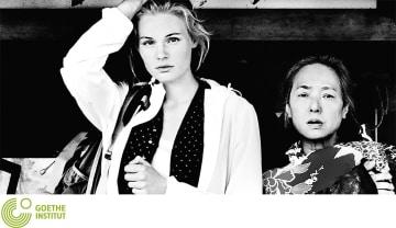 映画「フクシマ・モナムール」のワンシーン。右が桃井かおりさん。映像提供:ゲーテ・インスティトゥート(東京ドイツ文化センター)
