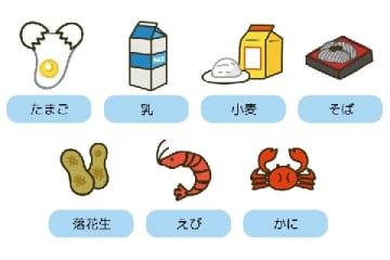 食物アレルギーの特定原材料7品目(はしもとあやね / PIXTA)
