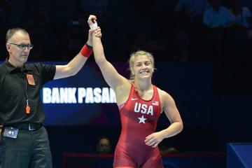 世界4連覇なるか、ヘレン・マルーリス(米国)