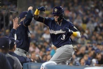 2戦連続となる本塁打を放ったブルワーズのオーランド・アルシア【写真:Getty Images】