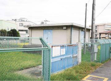 災害用への整備が計画されている、中野島駅近くの4号さく井
