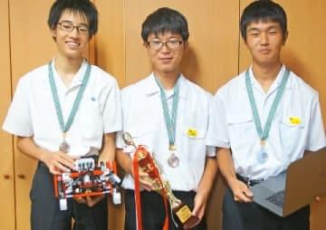 八代の中学生3人組チーム全国準優勝 ロボット世界大会に挑む 「メダル獲得目指す」 [熊本県]