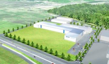 日本ゼオンの工場増設後のイメージ図(同社提供)