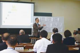 上田代表理事の講演で社会教育への研さんに励んだ研修会