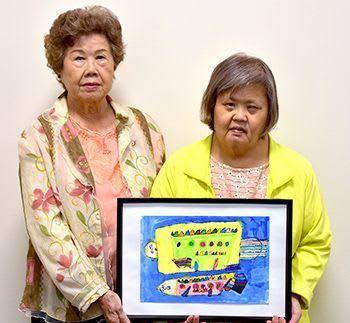 忙しい日常に温かみ 長嶺さんの「さかな」採用 沖縄手帳に障がい者の芸術