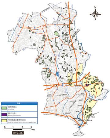 藤沢市が公表した大規模盛土造成地マップ