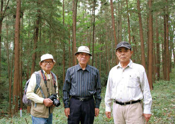 左から酒井副会長、天野会長、事務局の中村さん