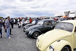 クラシックカーなど集結 車200台以上、いわきでモーターフェス