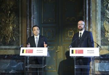 李克強総理、ベルギーのミシェル首相と共同記者会見 中国と欧州の関係発展を強調