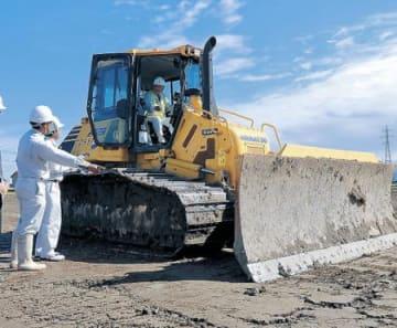 ICT建機で農地整理 小松で丸西組 民間発注工事で県内初
