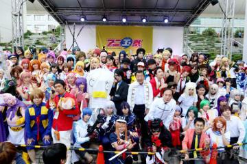 アニメやゲームのキャラクターに扮したコスプレーヤーらでにぎわったアニ玉祭(同実行委員会提供)