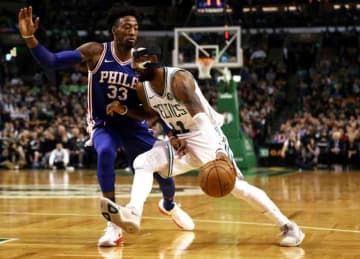 Kyrie Irving scores 36 points, Celtics beat Sixers