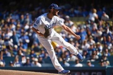 圧巻投球を披露したドジャースのクレイトン・カーショー【写真:Getty Images】