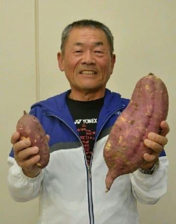 重さ4キロ巨大サツマイモ 日田市の住民が収穫 [大分県]