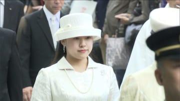 絢子さま、ドレス姿で伊勢神宮へ 「結婚の報告」