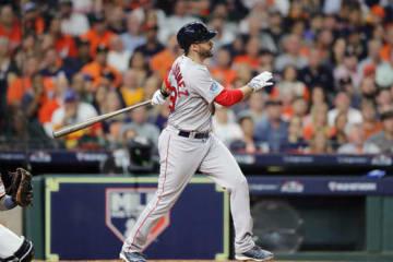 先制となる本塁打を放ったRソックスのJD・マルティネス【写真:Getty Images】