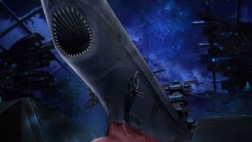 「宇宙戦艦ヤマト2202 愛の戦士たち」のテレビアニメ版の第3話「衝撃・コスモリバースの遺産」の一場面(C)西崎義展/宇宙戦艦ヤマト2202製作委員会