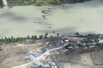 ヤルツァンポ川せき止め湖を現場取材 チベット自治区