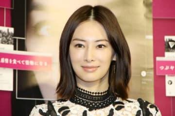 NHKの主演ドラマ「フェイクニュース」の会見に登場した北川景子さん