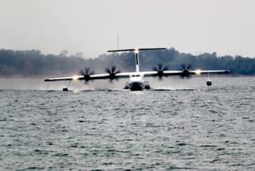 中国国産飛行艇AG600が離着水テストに成功―中国メディア
