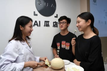 AIで糖度を判定するウリ専門店が登場 海南省海口市