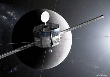 JAXAが開発した水星探査機「みお」のイメージ(JAXA提供)