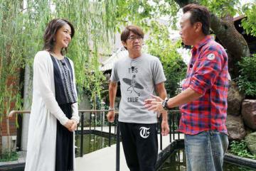 「モヤモヤさまぁ~ず2」に登場する(左から)福田典子アナ、大竹一樹さん、三村マサカズさん=テレビ東京提供