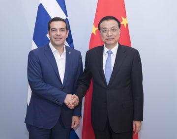 李克強総理、ギリシャのチプラス首相と会見 実務協力の強化で一致