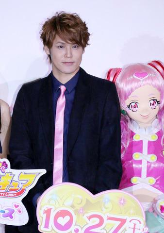 「映画HUGっと!プリキュア ふたりはプリキュア オールスターズメモリーズ」の完成披露イベントに登場した宮野真守さん