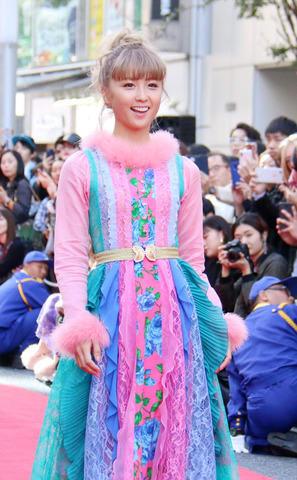 「第10回 渋谷ファッションウイーク」内のファッションショー「SHIBUYA RUNWAY」に出演したDream Amiさん