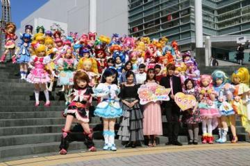 横浜市の横浜みなとみらい21でダンスパレードを実施した「プリキュア」シリーズの歴代55人