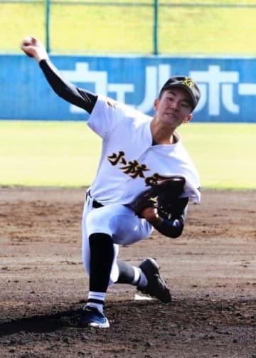 【1回戦・小林西-筑陽学園】コースを丁寧に突き、力投した小林西の鶴田