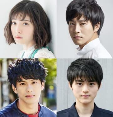 映画「蜜蜂と遠雷」に出演する(上段左から)松岡茉優さん、松坂桃李さん、(下段左から)森崎ウィンさん、鈴鹿央士さん