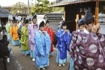 일본 最古의 관도에서 행진