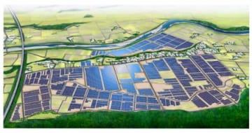 浪江のメガソーラー起工 2020年売電開始目指す