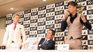 10月13日に行われた記者会見では、皇治(右)の言動に武尊(左)も苛立ちを隠せなかった