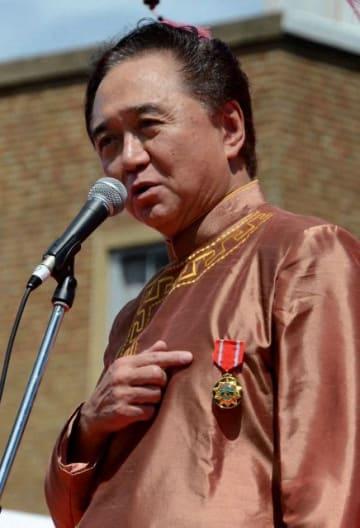 ベトナムとの経済交流がもたらす成果を語る黒岩知事=9月8日、横浜市中区