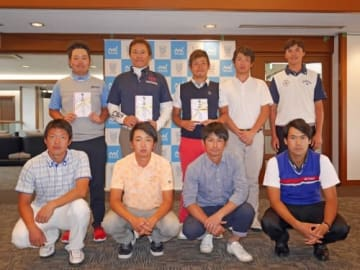 上田諭尉(後列左から2番目)ら9名が本戦への出場権を獲得した(提供:大会事務局)