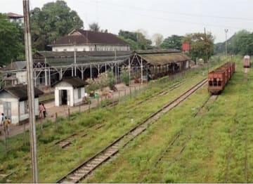 タウングー駅の現況(東急建設提供)