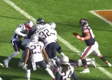 Bears lose to Patriots 38-31 after failed last-second Hail Mary
