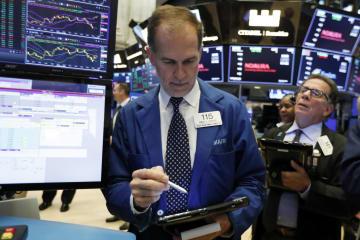 22日のニューヨーク証券取引所(AP=共同)